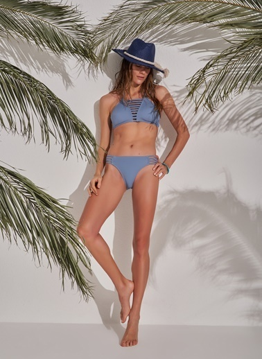Morhipo Beach Biye Detaylı Bikini Mavi